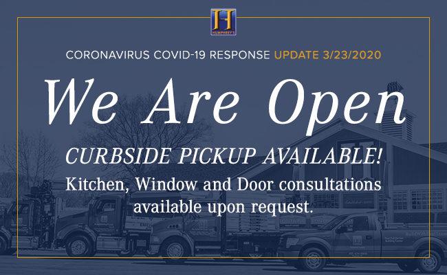 Humphrey's is Open – Coronavirus Response