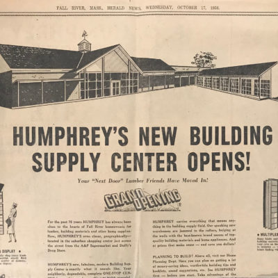 1956 (Location #2- Main Rd) Grand opening advertisement in newspaper.