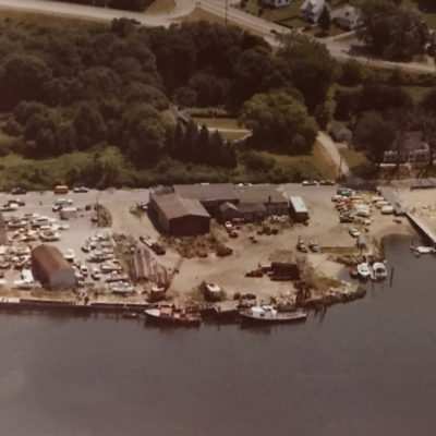 1938 (Original Location- Riverside Drive) Aerial shot. This picture was taken in the year that the first major hurricane wreaked havoc upon the business.