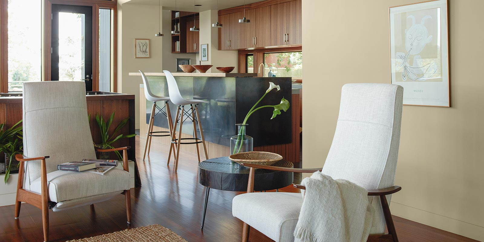 Benjamin Moore Living Room with Chairs