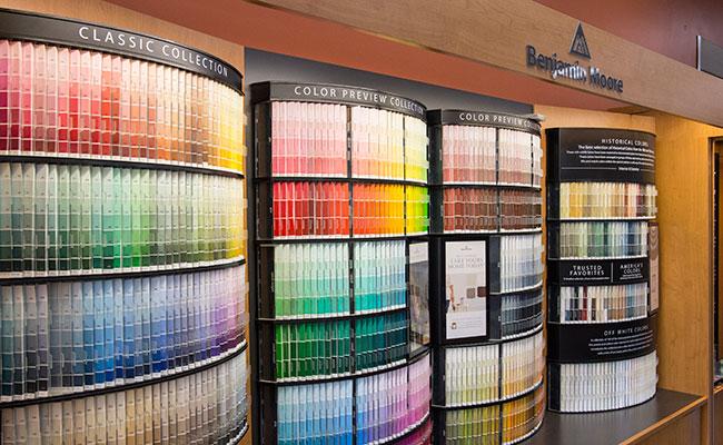 Benjamin Moore color display