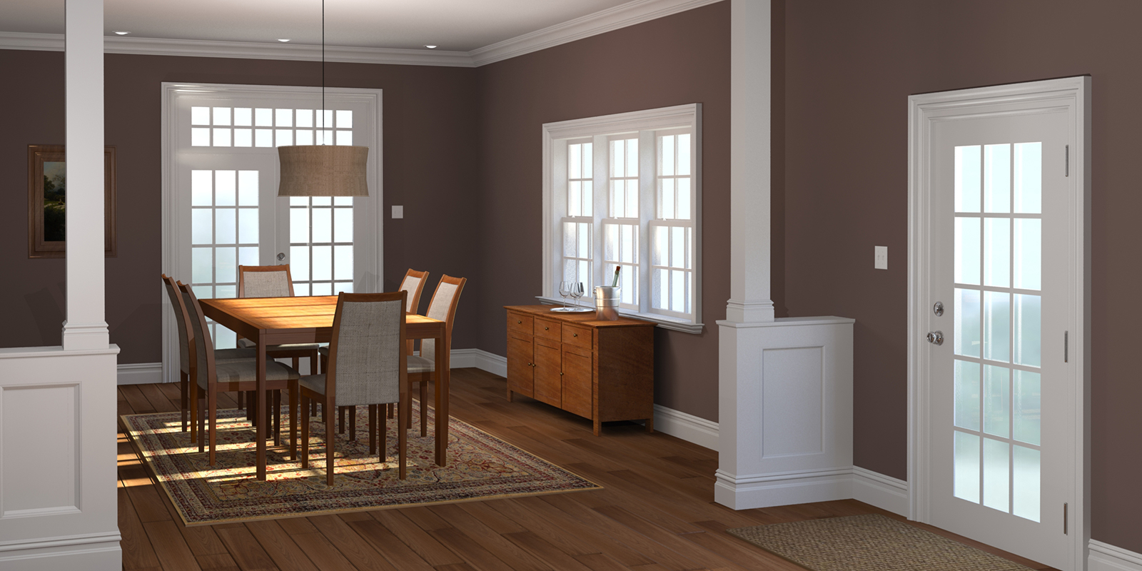 Mouldings in a dining room